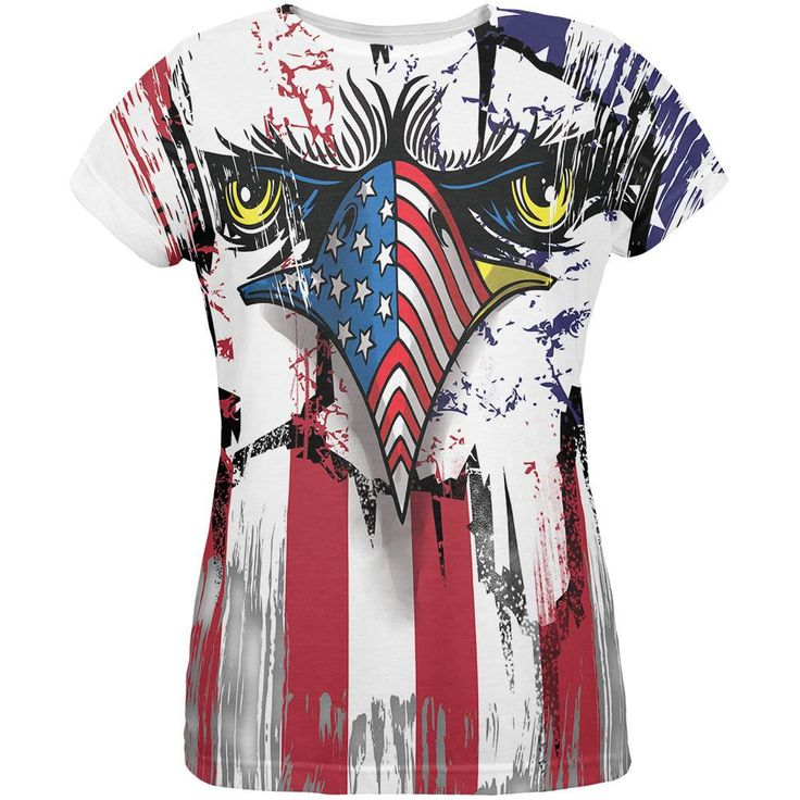 Patriot Eagle All Over Womens T-Shirt