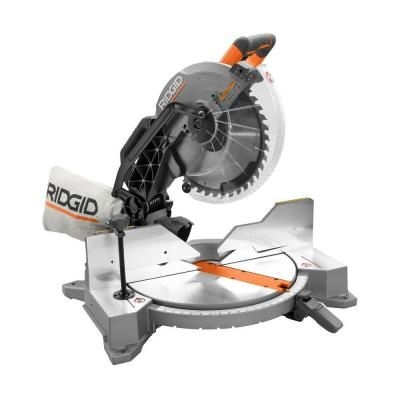 ridgid miter saw table. ridgid 12 in. dual bevel miter saw with laser-r4122 - the home depot ridgid table u