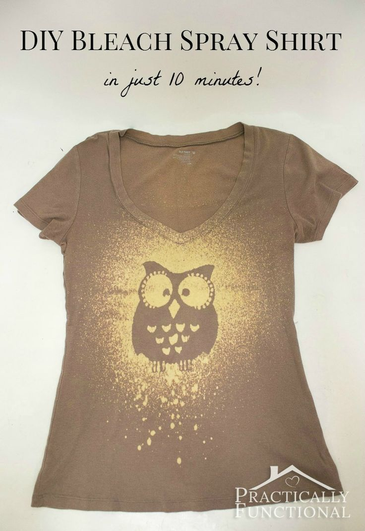 Make your own bleach spray t shirt in just 10 minutes! I am making it this afternoon - so cute!