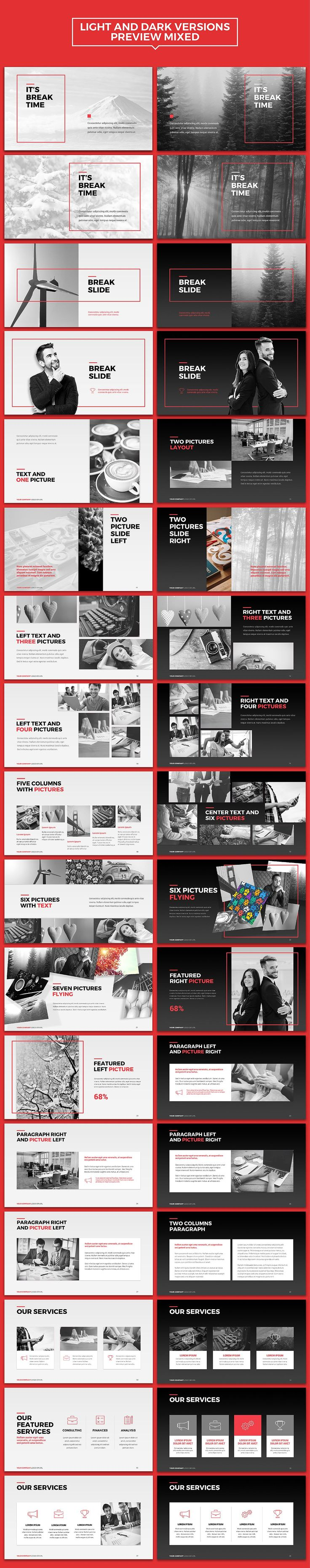NEO Multipurpose Powerpoint Template by INTERARTIVITY on @creativemarket