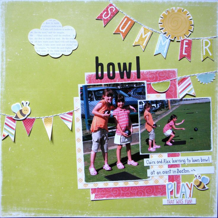 Summer Bowl - Scrapbook.com
