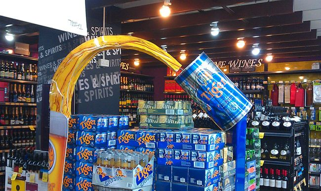 Tiger Beer Giant Beer Can Display   The Selling Points