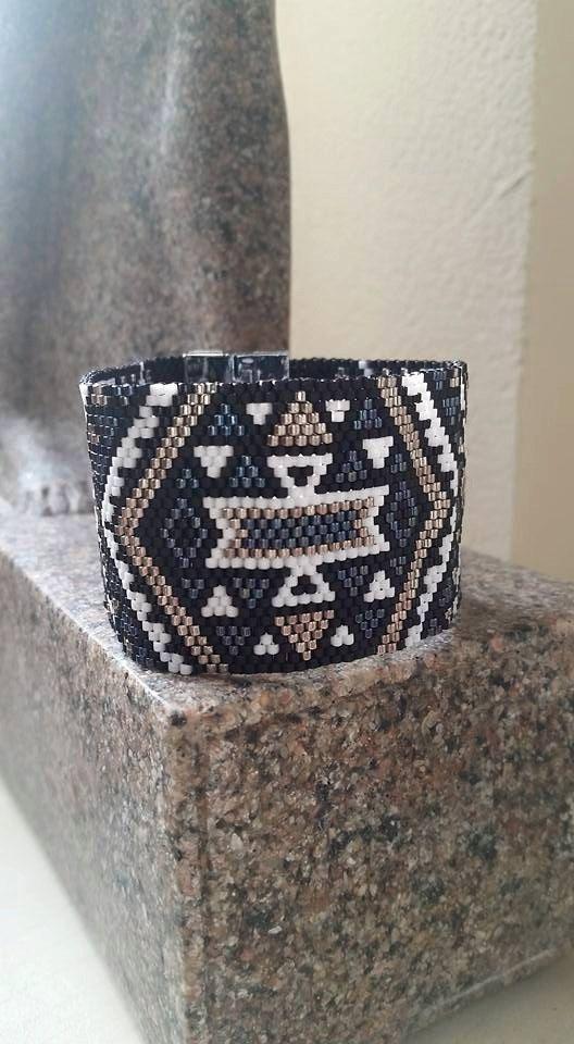 bracelet manchette miyuki fermoir métallique de la boutique Bylylas sur Etsy