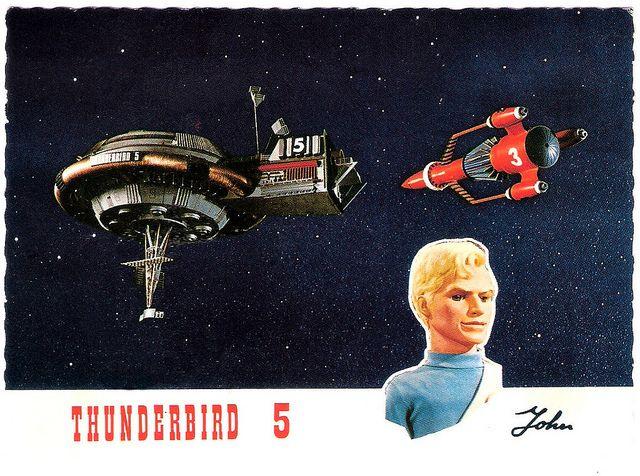 Gerry Anderson (1929 - 2012) Thunderbird 5, John. Dutch postcard by Vita Nova, Schiedam, no. B/10/41. Sent by mail in 1967. Photo: A.P. Films, London / Coliseum, London.