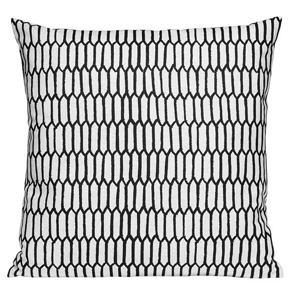 One Nordic Scribble Cushion Cover, Kenno Black Found On Polyvore