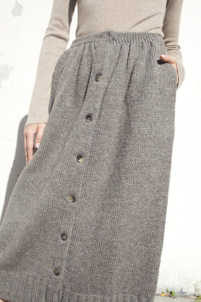 A Détacher Celina Skirt in Taupe | Oroboro Store | Brooklyn, New York