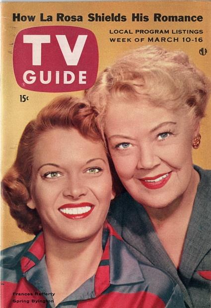"Frances Rafferty and Spring Byington of ""December Bride""  March 10-16 1956"