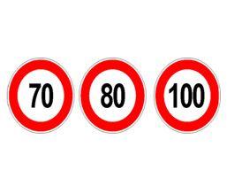 Autocolant-limitare-viteza-200-mm