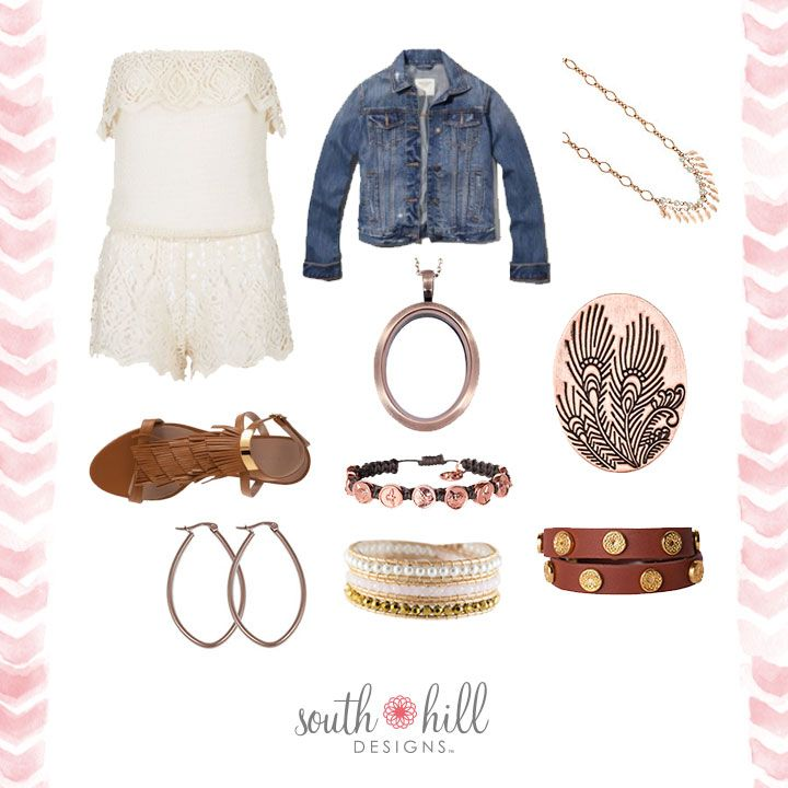Spring style accompanied by this locket!  I am in love!