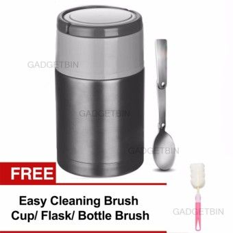Reviews Thermal Cooker Pot 800ml With Steam Release Thermos Vacuum Steel Hot Food Jar FREE CleaningBrush (Black)Order in good conditions Thermal Cooker Pot 800ml With Steam Release Thermos Vacuum Steel Hot Food Jar FREE CleaningBrush (Black) Before GA887HLAAGQG1AANMY-34710640 Kitchen & Dining Kitchen Storage & Accessories Thermal Flasks & Containers Gadgetbin Thermal Cooker Pot 800ml With Steam Release Thermos Vacuum Steel Hot Food Jar FREE CleaningBrush (Black)