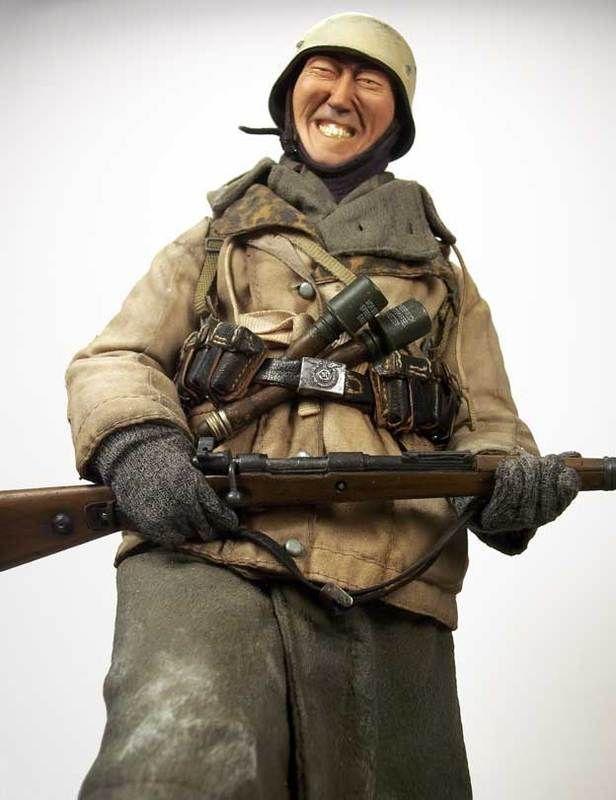 Ww2 1 6 Diorama A German Infantryman Surprises A Sleeping Us