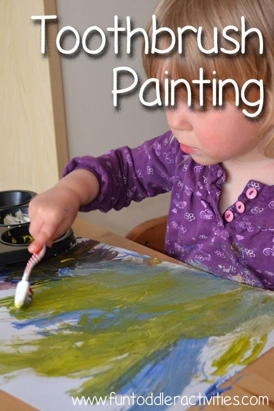 Fun Toddler Activities: Toothbrush Painting!