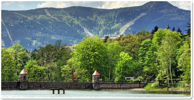 Liberec countryside - views of the mountains