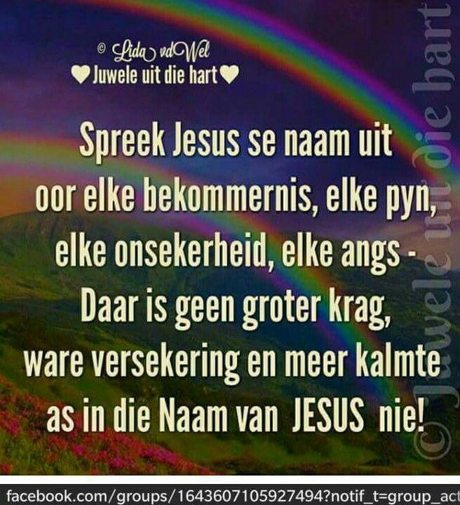 In Jesus Naam... #Afrikaans (FB)