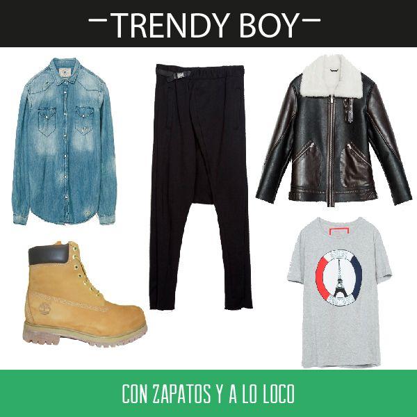 Las #botas que no pueden faltar en tu armario protagonizan este #look para #chicos #cool. Encuéntralas aquí http://calzadorodriguez.com/es/hombre/3453-botas-cordones-lima-timberland.html