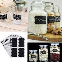 36Pcs / Set lavagna adesivi lavagna di cucina Craft Jar Scheda di gesso Etichette Lavagna Scheda di gesso nero Adesivi