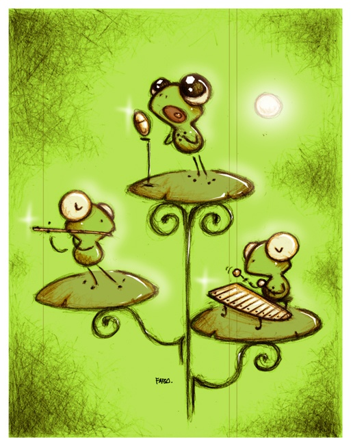 What I believe my pet frogs did while I was sleeping.