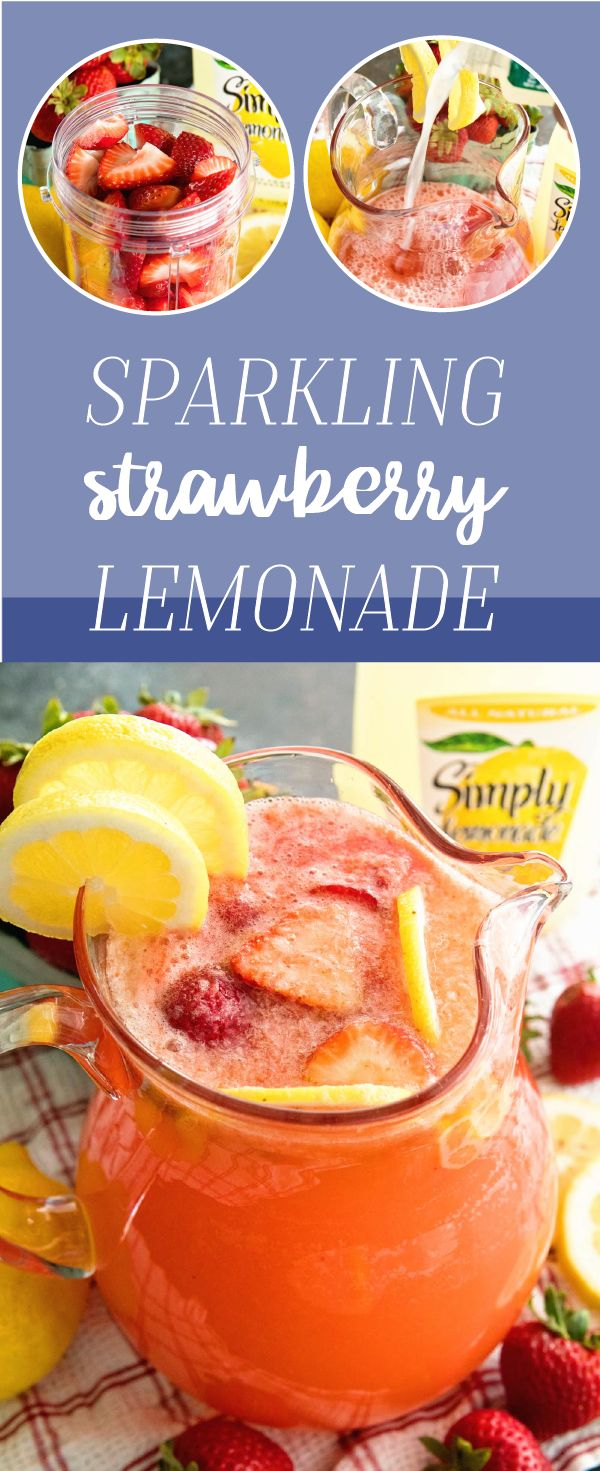 Bring on the flavor with this delicious Sparkling Strawberry Lemonade recipe! Made with just three ingredients—Simply Lemonade®, lemon-lime soda, and fresh fruit—this refreshing drink idea is the perfect complement to your summer party. After seeing how easy this kid-friendly bubbly beverage is, you'll be heading to Walmart to pick up all the ingredients and more  in no time!