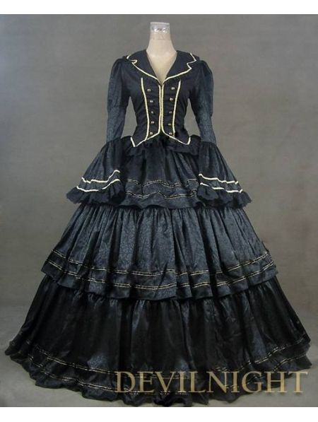 >> Click to Buy << Gorgeous Long  Sleeves Black Victorian Ball Gowns Anime Victorian Dress Up #Affiliate