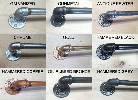 Industrial Curtain Rod: Industrial chic by IndustrialEnvy Etsy store.