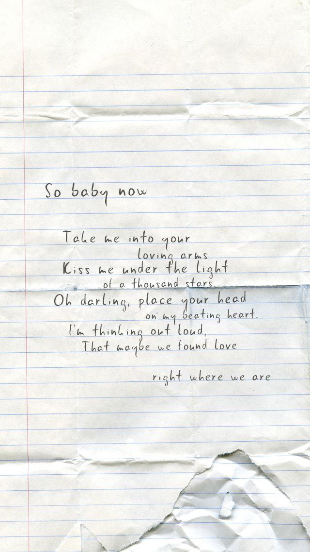 Ed Sheeran - Thinking Out Loud. | Ed Sheeran | Pinterest