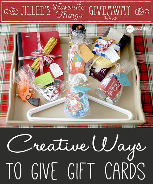"Elevate the experience of giving and receiving the practical gift card this year with these creative ideas!  PLUS, ""Jillee's Favorite Things Giveaway Week"" continues with a gift card giveaway BLOWOUT!!"