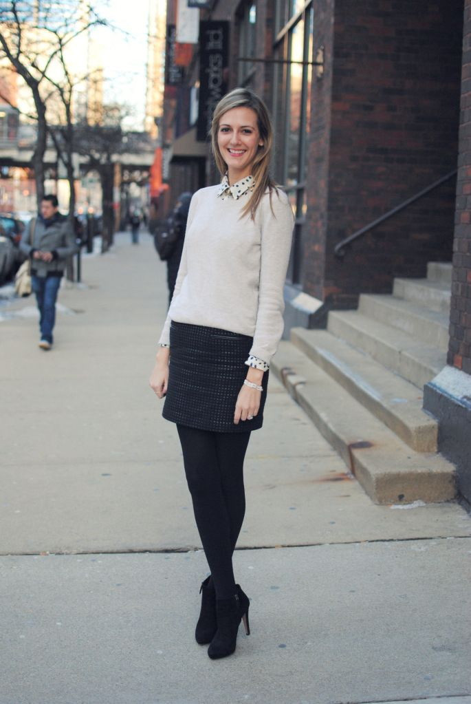 Black Tights Making Short Skirts Work Appropriate All Winter Long! | Just My Style | Pinterest ...