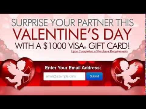Valentine's Day 2014 Get $1000 Visa Gift Card!