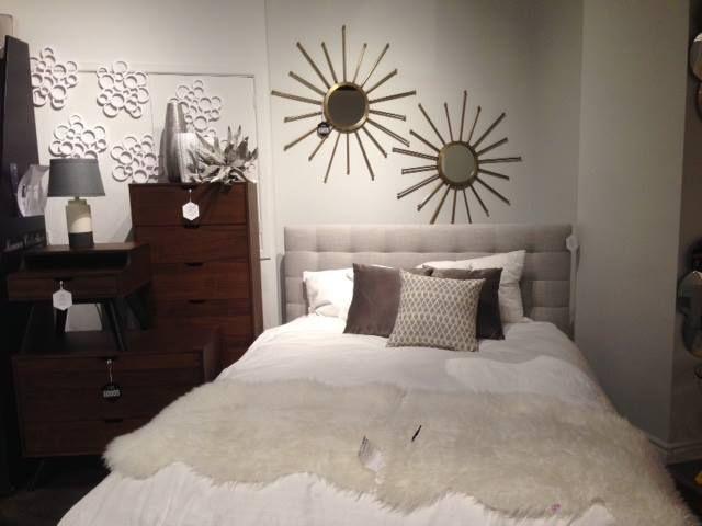 Toronto Showroom 2016 - Abbott Bed, Soleil Mirrors, Paige Dressers