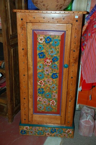 Painted Mexican Furniture Is A One Of Kind Piece Flowers Are Hand On The Front And