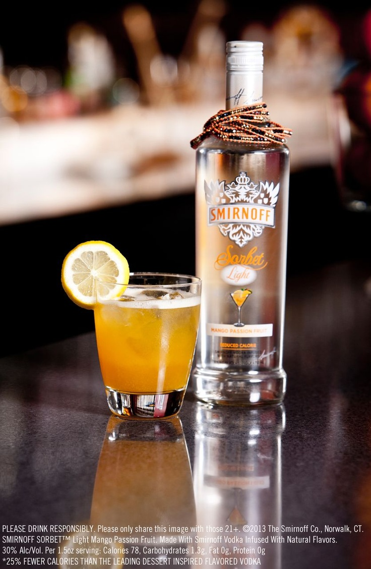 17 best images about smirnoff sorbet light mango passion for Vodka and iced tea drinks
