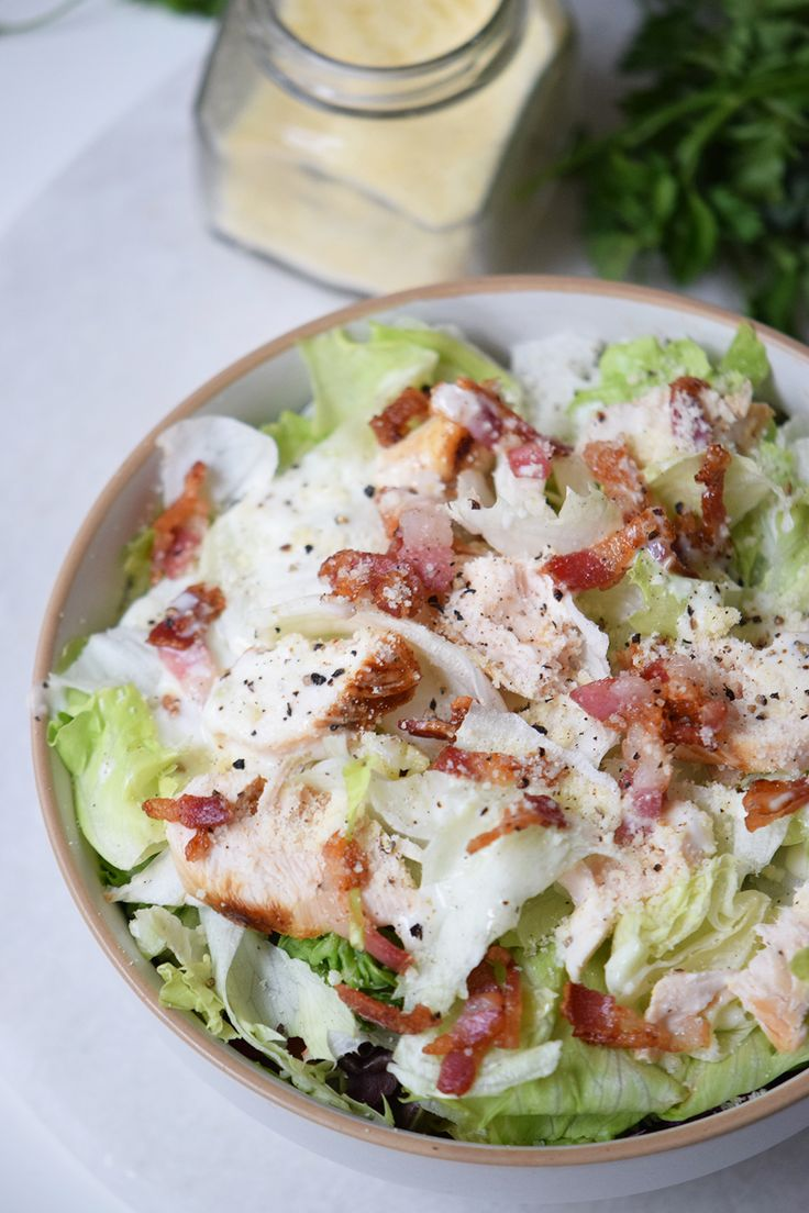 Bacon Chicken Salad w/creamy herb dressing Lindsey Andrews