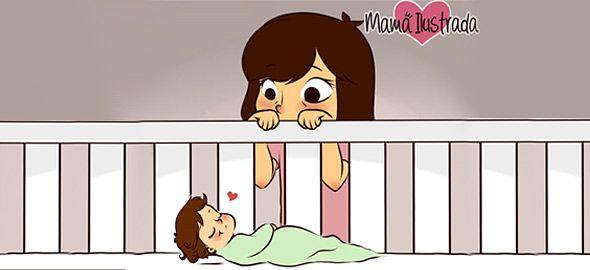 Να είσαι μαμά σημαίνει να βλέπεις το μωρό σου να κοιμάται και να λιώνεις. Να τρέχεις και να μην φτάνεις αλλά να είσαι ευτυχισμένη!