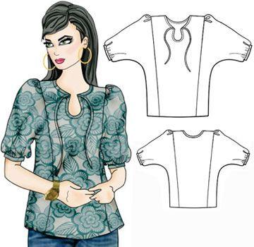 free pattern: Gypsophelia Peasant Top