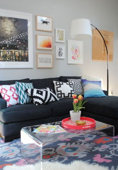 WOW is the correct response to the dramatic after  Black Couch DecorBlack CouchesLiving  Room. Best 20  Living room couches ideas on Pinterest   Gray couch