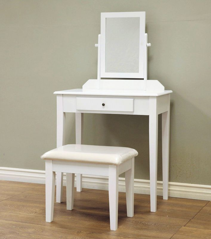 White Vanity Table & Stool CLEARANCE! Unclaimed Freight Co. Lancaster
