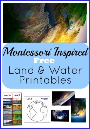 Free Land and Water Printables. Montessori inspired. Montessori Nature Blog