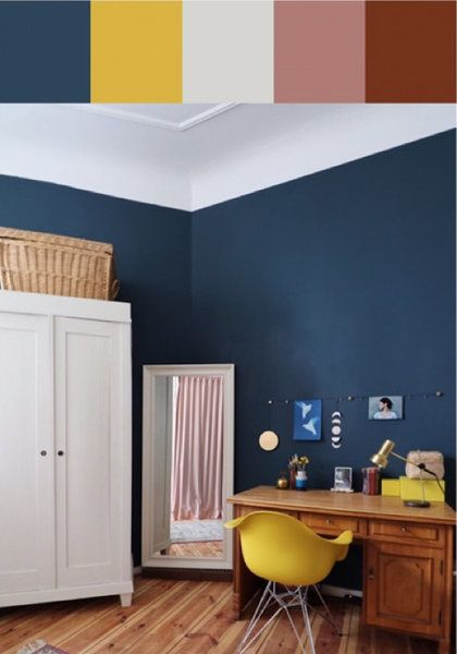 DIYnstag: Heute mit Farbspecial von Hague Blue | Foto von Mitglied Hague Blue #DIY #doityourself #decor #decoration #wandfarbe #wallcolour #SoLebIch #diynstag #schlafzimmer #bedroom