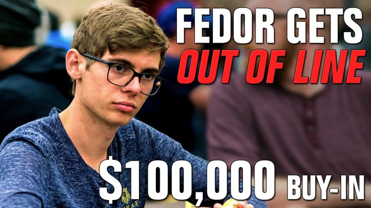 For $882,000, Fedor Holz Takes A BIG Risk
