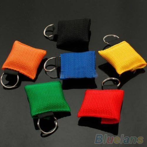 Disposable CPR Resuscitator Mask Keychain