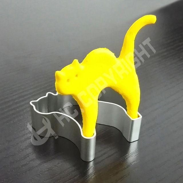 1.36€ entrega 1mes Forma del gato de halloween de aluminio para hornear galletas de azúcar fondant molde diy craft pastelería cortadores de la galleta herramientas de la hornada