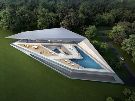 Concept Villas for golf & spa resort, Dubrovnik, By Zaha Hadid Architect