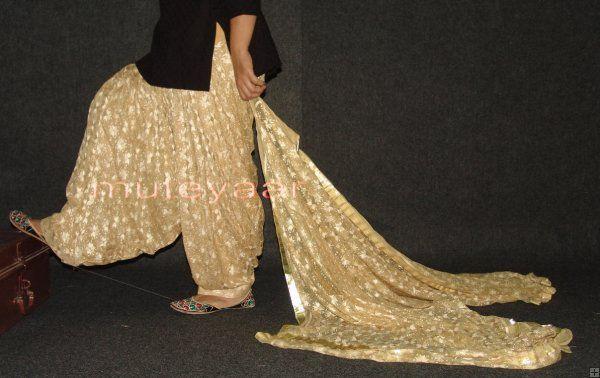 PHULKARI Embroidered Patiala Salwar . Just love this salwar. Ohhhhhhhhhh the color , the embroidery.