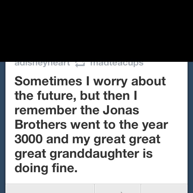 "No worries about the future! Granted, I pray my spawn is well past three ""Greats"" by the year 3000. @Lauren Shepard"