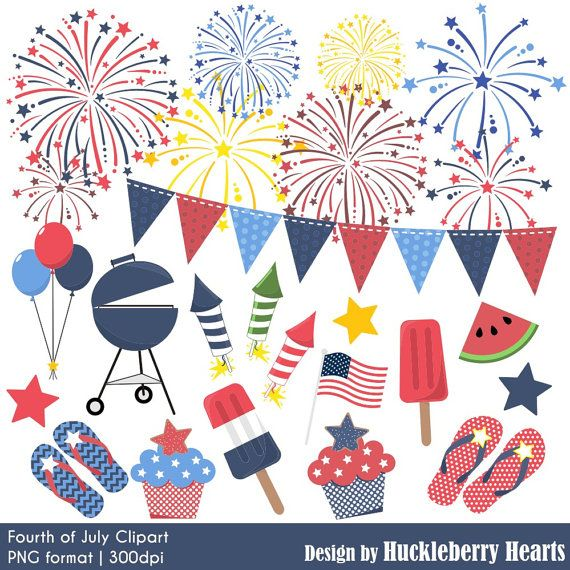 Fourth of July Clipart, Fireworks Clipart, Independence Day Clipart, Fourth of July Clip Art, Red, White, Blue