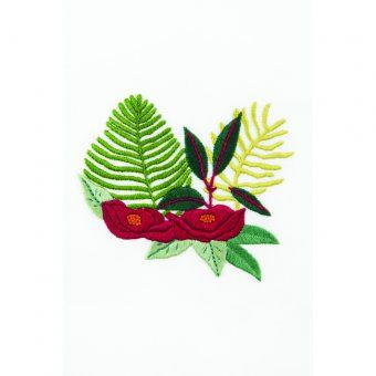 SEW & SAUNDERS Ramo tropical de helechos - diseño