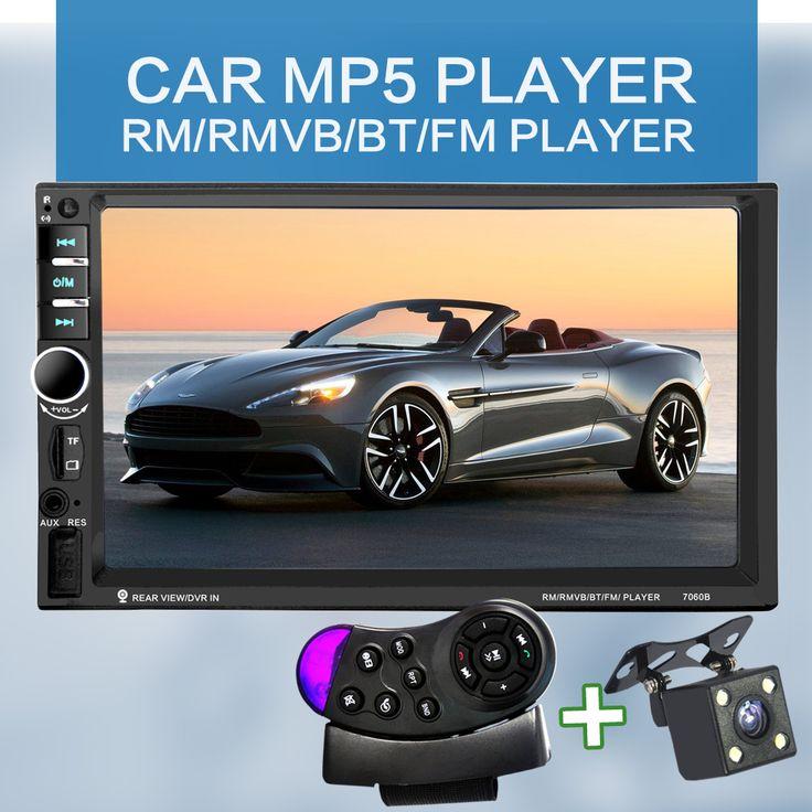 7060B 7 Inch Bluetooth TFT Layar Mobil Audio Stereo MP4 Player 12 V Auto 2-Din Dukungan AUX FM USB SD MMC Dukungan untuk JPEG, WMA, MP5