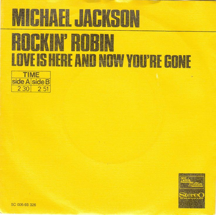 45cat - Michael Jackson - Rockin' Robin / Love Is Here And Now You're Gone - Tamla Motown - Netherlands - 5C 006-93326