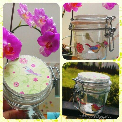 Colorful spring jar