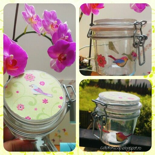 Colorful spring jar